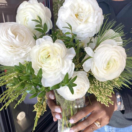 Spring wedding flowers rinoculas Frisco