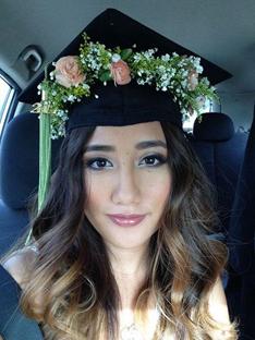 custom floral graduation cap