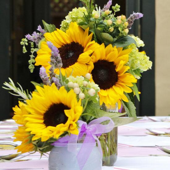 Summer Barbeque Floral Arrangement Centerpiece